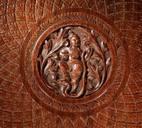 Anglo Indian Fine Carved Hardwood Round Side Elephant Table. 19th Century (7 of 12)