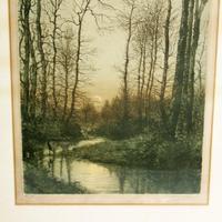 'Moonrise' Colour Etching by Eugène Delâtre (4 of 8)