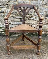 Antique Oak Turners Corner Chair (12 of 14)