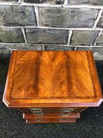 Antique Figured Walnut Small Chest Drawers (2 of 10)