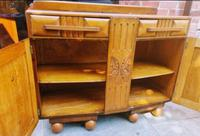 Art Deco Oak Wood Sideboard with Ball Feet (9 of 9)