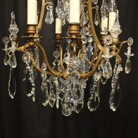 French Gilded 7 Light Antique Chandelier (5 of 10)