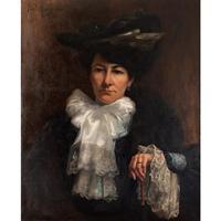 Paul-Antoine Hallez, Portrait of Lady with Umbrella (3 of 10)