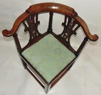 Georgian Walnut Corner Chair (4 of 7)