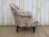 Antique Napoleon III Tub Armchair for re-upholstery (5 of 8)