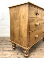Antique Pine Straight Front Chest of Drawers (10 of 10)