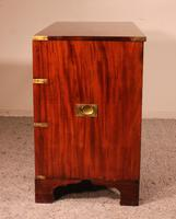 19th Century Campaigne / Army Chest of Drawers in Mahogany (6 of 11)