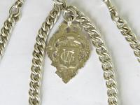 Antique Silver Double Pocket Watch Chain (2 of 5)