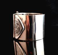 Victorian Silver Cuff Bangle, Wide, Buckle (4 of 11)
