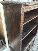 Carved Oak Adjustable Bookcase (10 of 12)