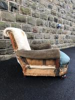 Antique English Armchair For Recovering (3 of 7)