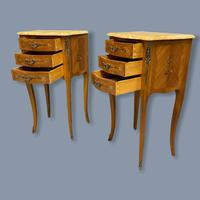 Pair of Marquetry & Marble Top Side Tables (4 of 8)