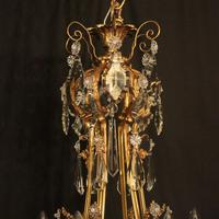 French 19th Century Bronze 24 Light Antique Chandelier (9 of 11)