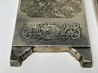 Antique Chinese Solid Silver Zu Yin Hallmarked Scroll Weight Plaques Guangxu (5 of 24)