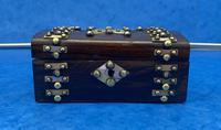Victorian Brassbound French Rosewood Trinket Box (9 of 11)