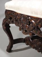 Remarkable Pair of Late 19th Century Walnut Throne Chairs (9 of 10)