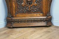 Antique Carved Oak Green Man Corner Cabinet (4 of 7)