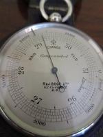 Superb Antique Silver Pocket Barometer & Case (5 of 8)