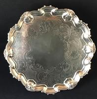 Old Sheffield Plate Silver Plated Salver (2 of 5)