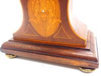 Super Art Nouveau Mantle Clock Tulip Floral Inlay 8 Day Mantle Clock (12 of 15)