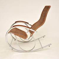 1970's Vintage Rattan & Chrome Rocking Chair (2 of 12)