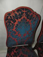 Pair of 18th Century Dutch Walnut Cabriole Leg Chairs (3 of 8)