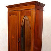 Edwardian Wardrobe Inlaid Mahogany Mirrored (8 of 10)