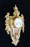 French Louis XVI Style Bronze Gilt Cartel Wall Clock (2 of 7)