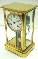 Fine  Antique French Table Regulator with Compensating Pendulum 8 Day 4 Glass Mantel Clock (4 of 11)