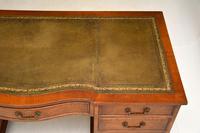 Burr Walnut Pedestal Desk c.1930 (4 of 10)