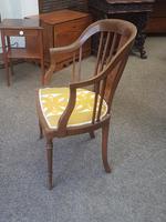 Edwardian Inlaid Tub Chair (4 of 7)