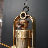 Original Large Copper Fluted Ships Cargo Light (4 of 8)