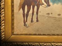 Exceptional Quality 19th Century Miniature Watercolour Painting of Horseman - Cowboy (7 of 11)