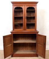 Teak Glazed Library Bookcase (5 of 11)