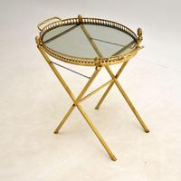 Vintage French Brass Folding  Side Table (3 of 8)