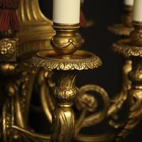 French 19th Century Gilded Bronze 8 Light Antique Chandelier (6 of 10)
