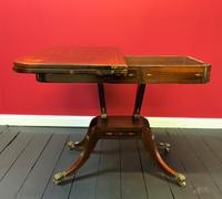 Exceptional Regency Period Rosewood Inlaid Fold-over Occasional Card Games Table (5 of 14)
