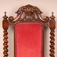 19th Century Walnut Barley Twist Prie Dieu Chair (11 of 15)