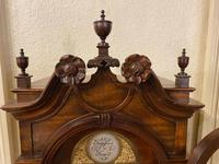 Carved Walnut Grandmother Longcase Clock (6 of 7)