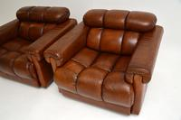 Pair of Vintage Tufted Leather Club Armchairs (5 of 6)