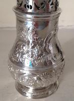 Antique George 1 Britannia Silver Caster - 1715 (5 of 6)