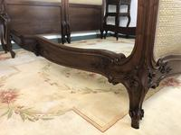 Antique French Bespoke Carved & Upholstered Extra Large Bed Frame (10 of 16)