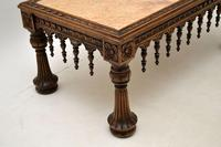 Antique Carved Marble Top Coffee Table (11 of 14)
