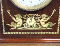 Incredible Solid Mahogany Cased Mantel Clock with Bone Inlay by James Weir (9 of 10)
