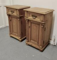 Pair of  Chunky Carved Pine Bedside Cupboards (4 of 6)