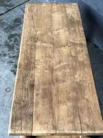 Antique Bleached Oak Coffee Table (5 of 9)