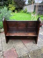 Antique Victorian Church Pew Bench Solid Oak (6 of 8)