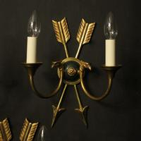 French Set Of 3 Empire Antique Wall Lights (2 of 10)