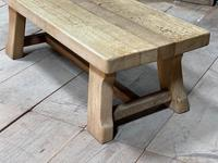 French or Scandinavian Bleached Oak Coffee Table (5 of 15)