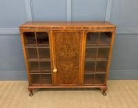 Burr Walnut Bookcase/Side Cabinet (15 of 15)